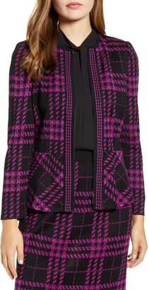 Ming Wang Knit Peplum Jacket