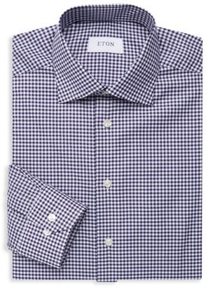 Eton Slim-Fit Check Cotton Dress Shirt