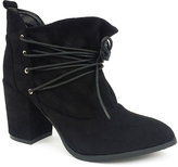 Black Lace-Up Hope Bootie