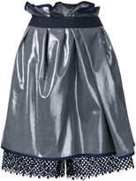 Kolor metallic gathered skirt