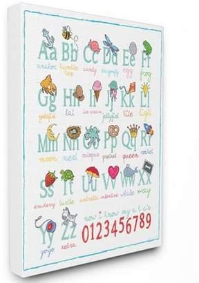 """Icons Stupell Industries Abcs 123S Song and Oversized Stretched Canvas Wall Art (30""""x40""""x1.5"""")"""