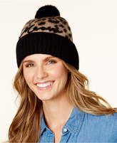 Kate Spade Brushed Leopard Print Beanie