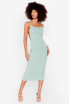Nasty Gal Womens Opening Night Strappy Midi Dress - Sage