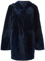Drome hooded fur coat - women - Lamb Fur/Lamb Nubuck Leather - L