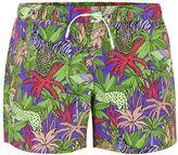 Topman Purple Jungle Print Swim Shorts
