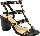 Wild Diva Black Studded Susie Sandal