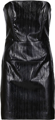 Rotate by Birger Christensen Black Faux Leather Dress