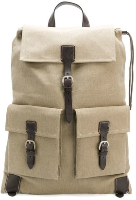 Holland & Holland Canvas Drawstring Backpack
