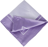 Oxford Silk Pocket Sq Border Lt. Purple X