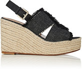 Barneys New York Women's Denim Platform-Wedge Espadrille Sandals