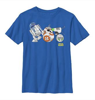Fifth Sun Boys' Tee Shirts ROYAL - Star Wars Royal Cartoon Droid Lineup Tee - Boys