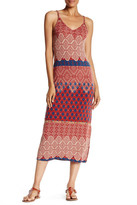 Angie V-Neck Knit Printed Midi Dress