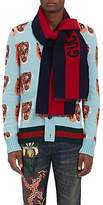 "Gucci Men's ""Guccy"" Wool-Silk Scarf"