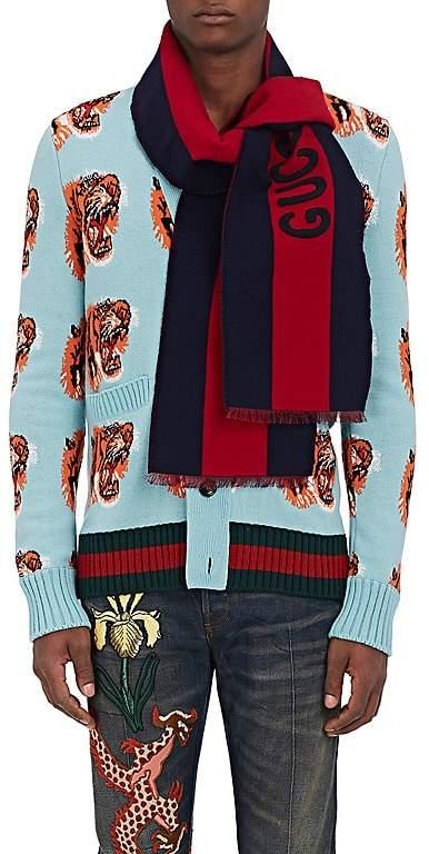 """Gucci Men's """"Guccy"""" Wool-Silk Scarf"""