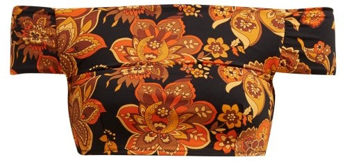 Dodo Bar Or Ceccile Floral Print Bikini Top - Womens - Black Print