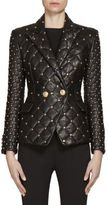 Balmain Studded Quilted Leather Jacket