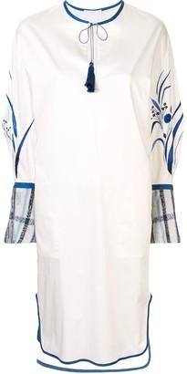 Mame Kurogouchi Tassel Tie Midi Dress