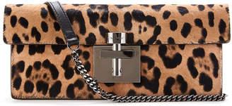 Oscar de la Renta Slim Alibi Leopard Shoulder Bag