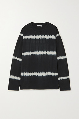 Ninety Percent Tie-dyed Organic Cotton-jersey Top - Black