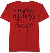 JEM Men's Pokémon Pikachu Happy Holidays Graphic-Print T-Shirt