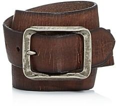 John Varvatos Men's Crackled Leather Belt