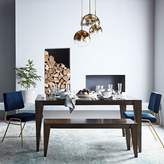 west elm Anderson Solid Wood Expandable Dining Table - Carob