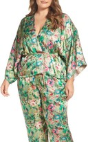 Plus Size Women's Elvi Beleted Floral Komono Jacket