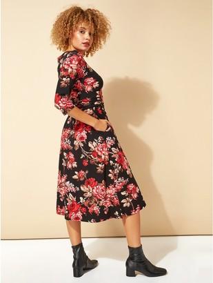 M&Co Roman Originals floral print pocket detail midi dress