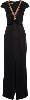 Temperley London Embellished Satin-crepe Gown