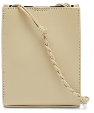Jil Sander Tangle Small Braided-strap Leather Cross-body Bag - Beige
