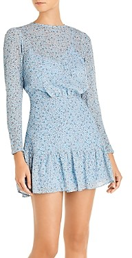 Finders Keepers Blossom Floral Print Mini Dress