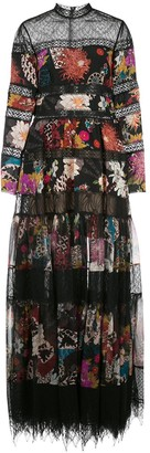 ZUHAIR MURAD Uchiwa tiered gown