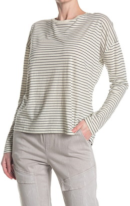 Vince Pencil Stripe Relaxed Long Sleeve Top