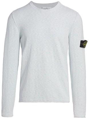 Stone Island Melange Knit Crew Sweater