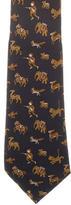 Hermes Skinny Silk Tie
