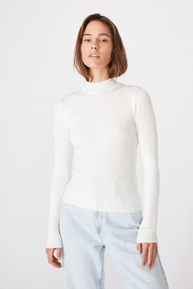 Supre Monica High Neck Long Sleeve Knit
