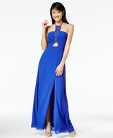 Amy Byer Juniors' Beaded Halter Gown