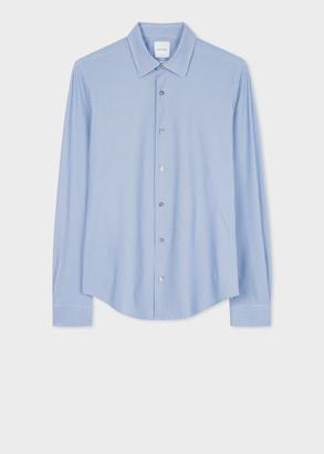 Paul Smith Men's Super Slim-Fit Blue 'Geo' Print Shirt