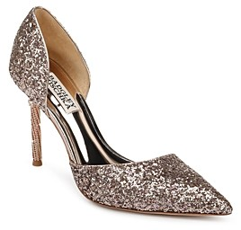 Badgley Mischka Women's Ozara Glitter d'Orsay Pumps