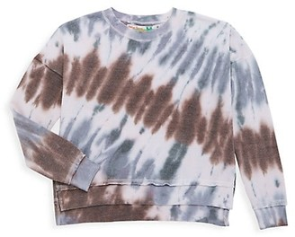 Vintage Havana Girl's Tie-Dye Side Slit Crewneck Sweatshirt