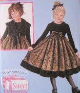 Simplicity 4058 Daisy Kingdom Dress Pattern Girls 5 to 8 Jacket Faux Fur Trim
