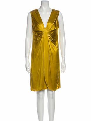 Lanvin 2007 Knee-Length Dress Yellow