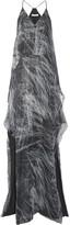 Halston Layered Metallic Printed Silk-blend Chiffon Gown - large
