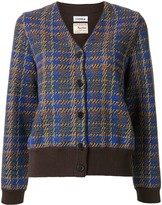 Coohem Madras tech tweed cardigan