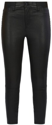 L'Agence Adelaide High Rise Ankle Leather Jeans