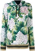 Dolce & Gabbana floral hooded sweatshirt - women - Cotton - 38