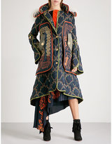 Peter Pilotto Tribal-patterned hooded quilted coat
