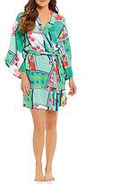 Josie Printed Challis Kimono Robe