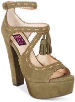 Mojo Moxy Creole Platform Tassled Dress Sandals