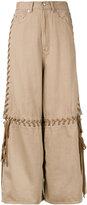 G.V.G.V. lace-up wide leg jeans - women - Cotton - 34